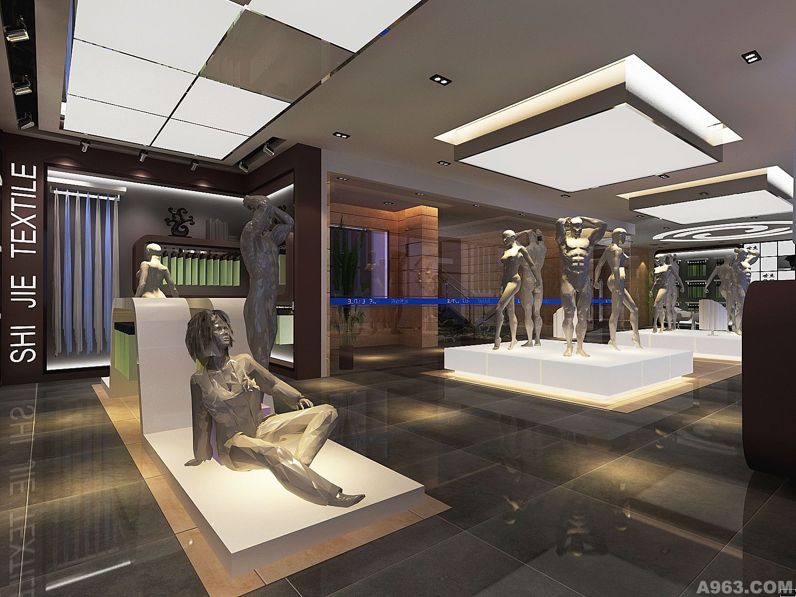纺织展厅 - 公共空间 - 苏州室内设计网_苏州室内设计