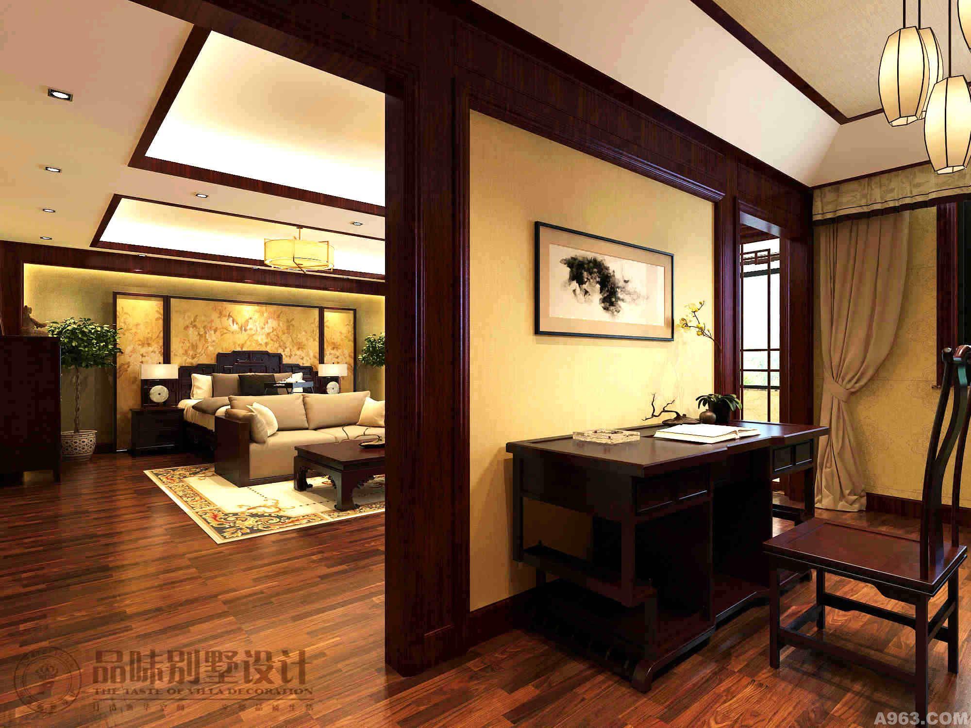艺术品和红木家具与室内设计相