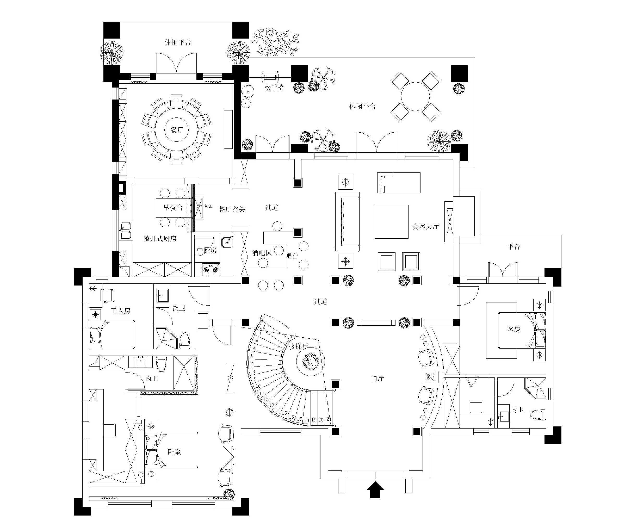 項目地址:上海建德南郊  戶型:獨立別墅  面積:500平米  主材:羅馬柱