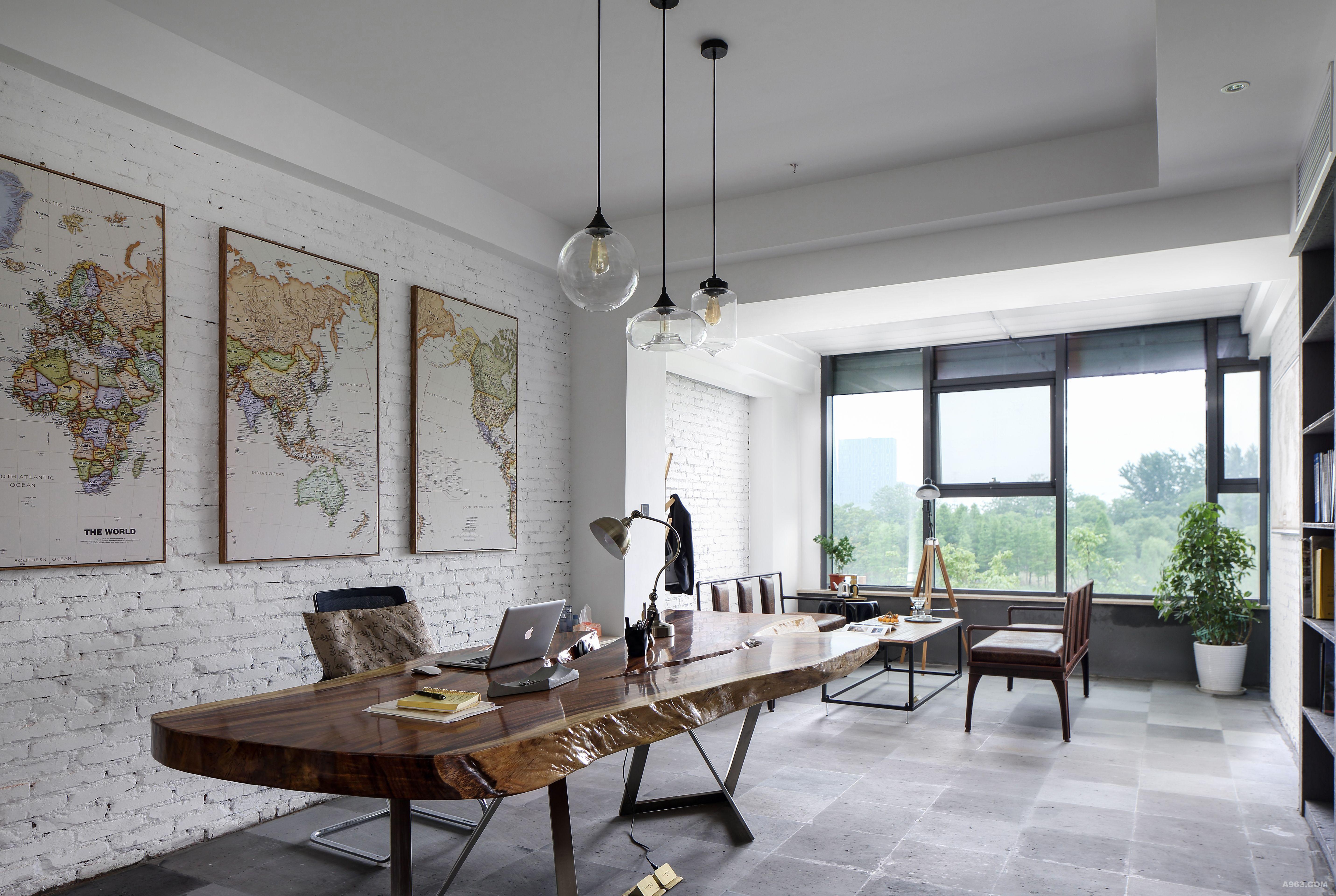 办公室,美式工业风.