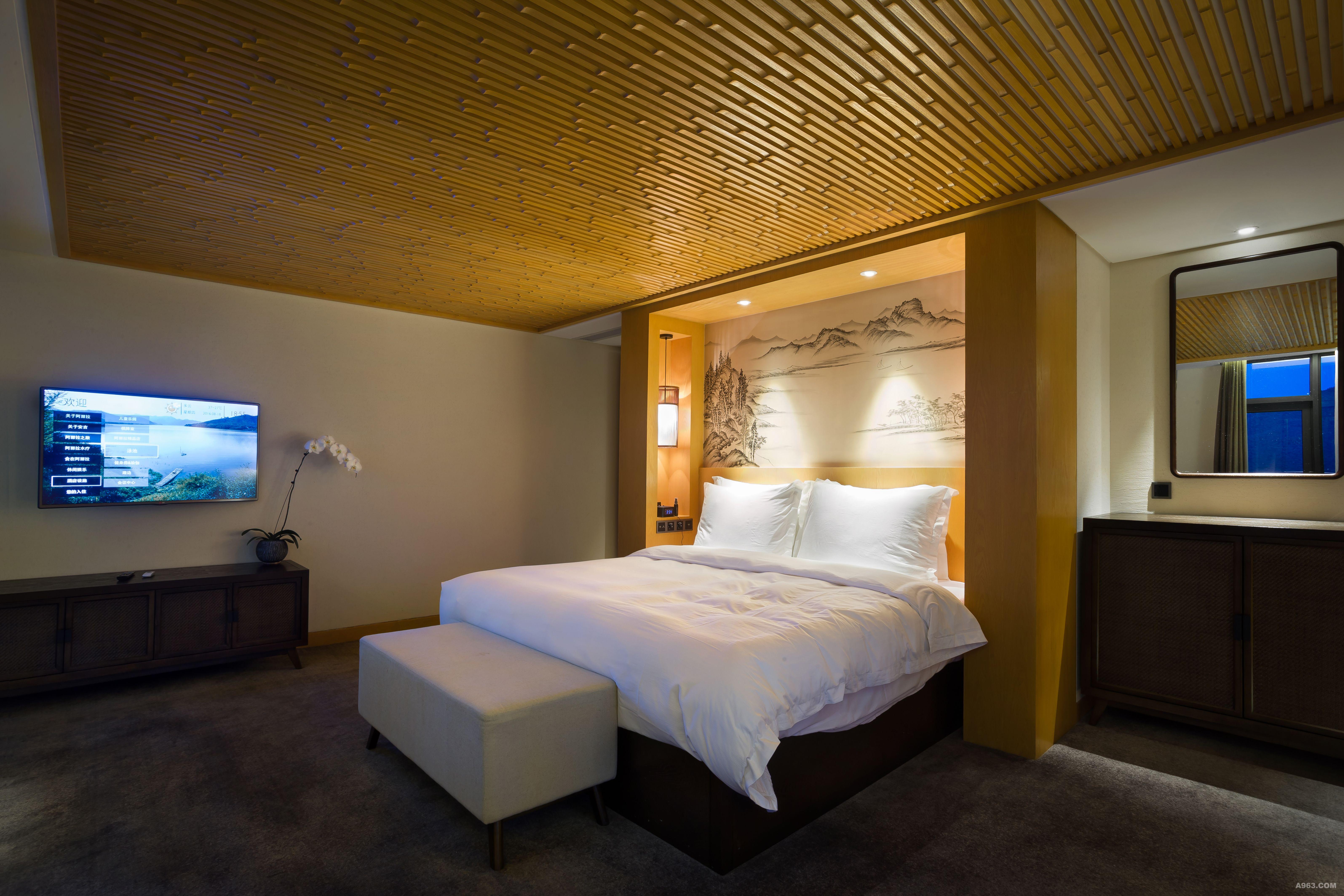 背景墙 房间 家居 酒店 设计 卧室 卧室装修 现代 装修 6381_4255